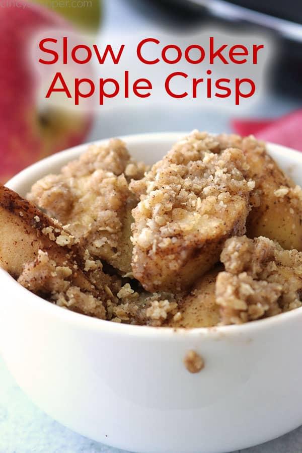 Easy Apple Crisp in bowl.