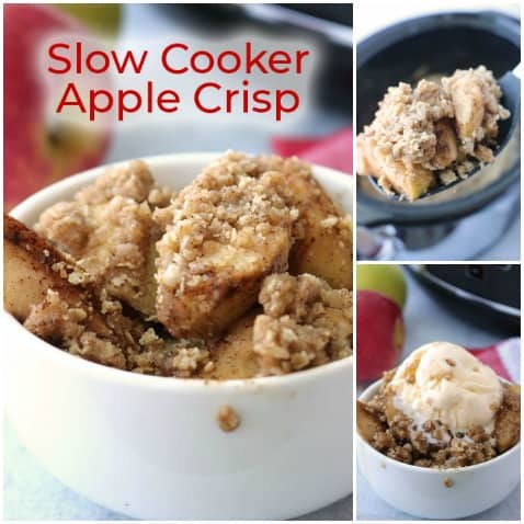 Slow Cooker Old Fashioned Apple Crisp Recipe
