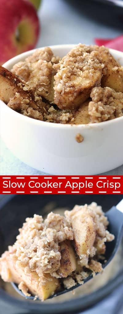 The best Slow Cooker Apple Crisp