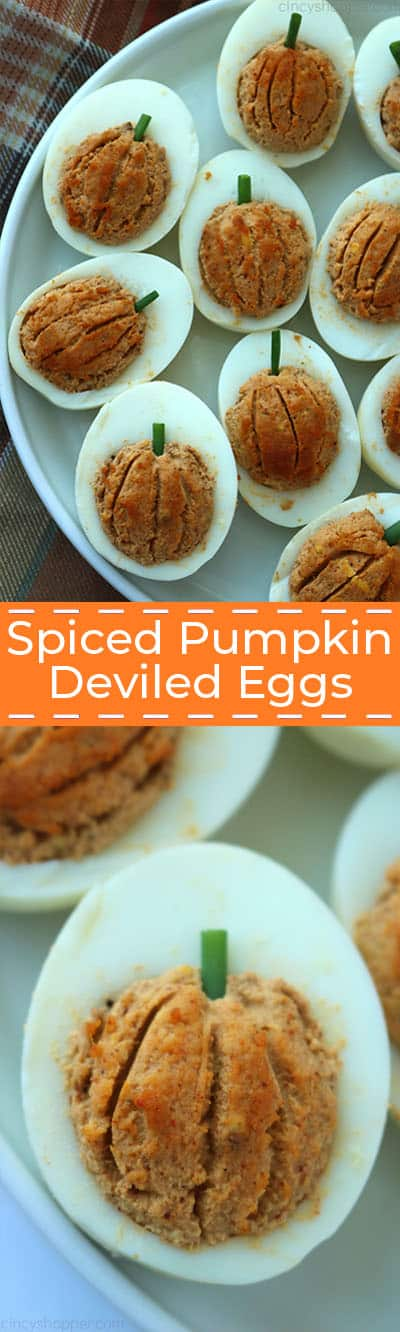 Spiced Pumpkin Deviled Eggs