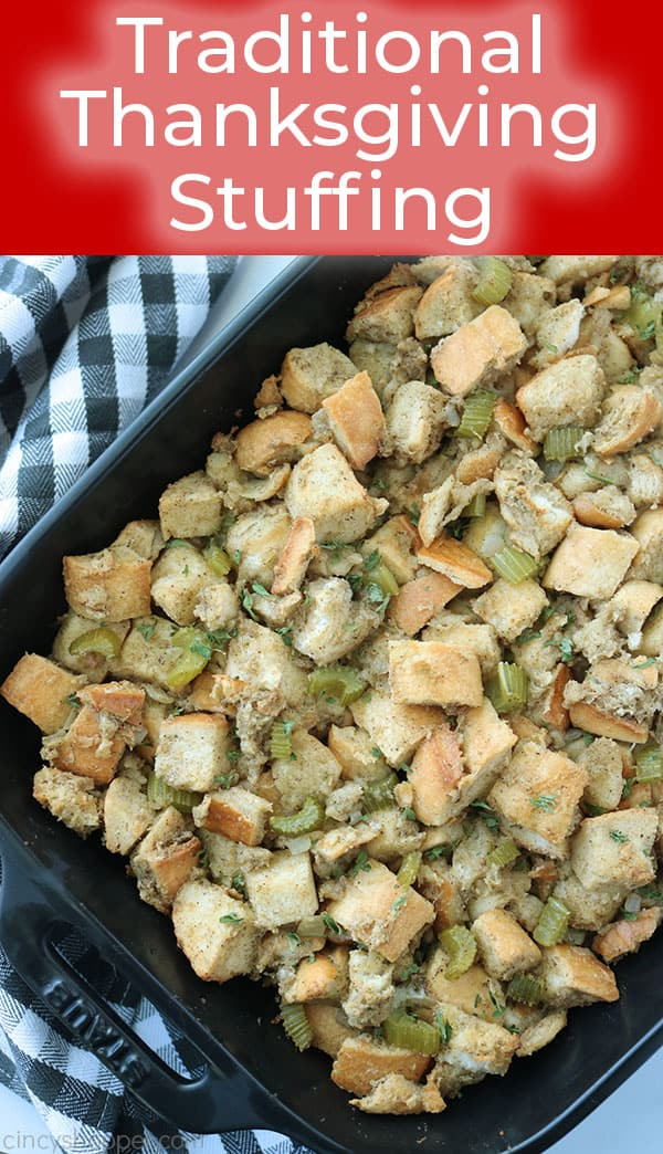 The best Thanksgiving Stuffing recipe.