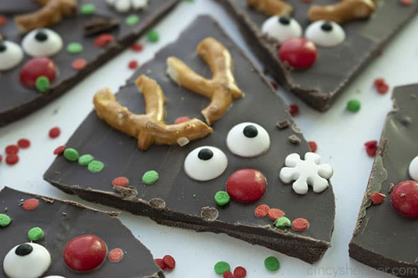 Chocolate Bark with Reindeer