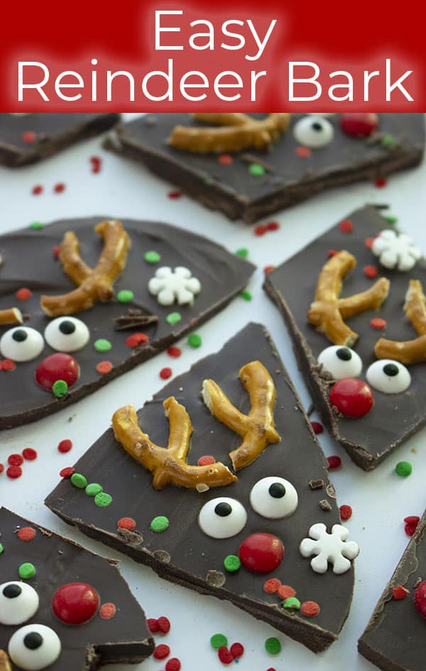 Easy Christmas Rudolph Reindeer Bark
