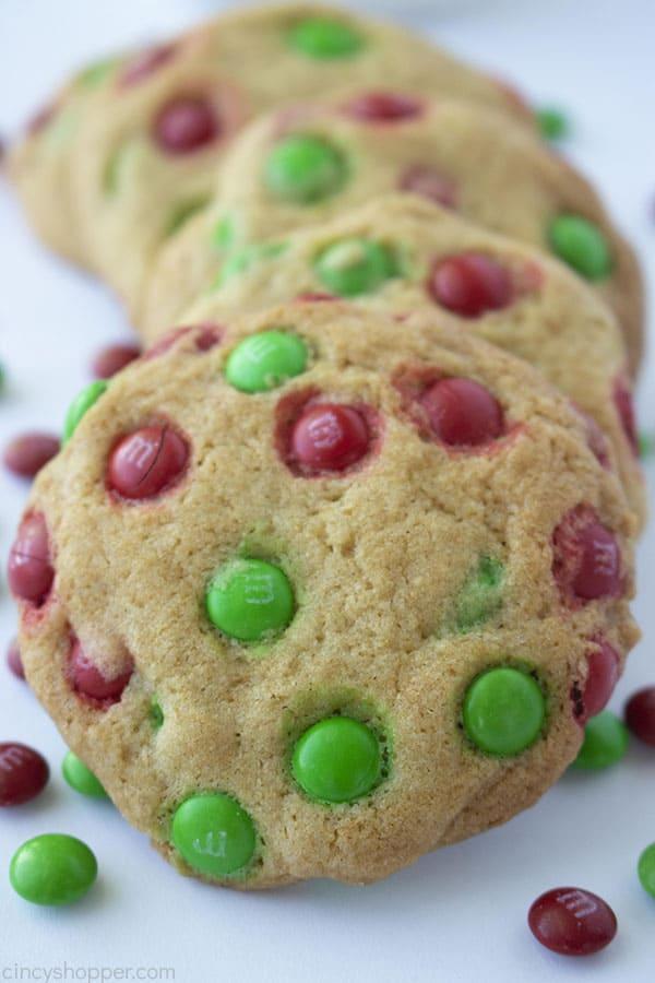 Santa's Favorite M&M Christmas Cookies