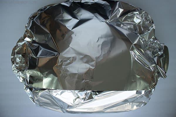 Aluminum foil tent for the best ham