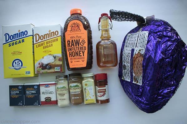 Ingredients for Honey Baked Ham