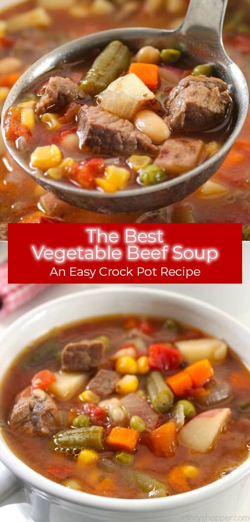 The BEST Vegetable Beef Soup - an Easy CrockPot recipe