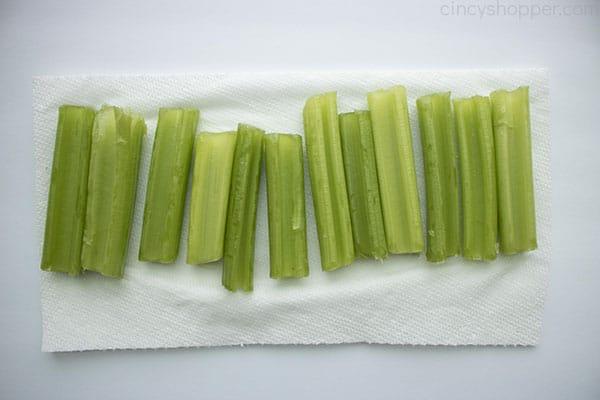 sliced celery sticks