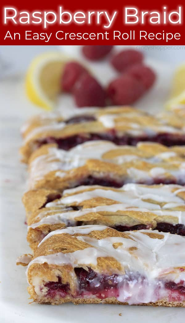 titled image (and shown): an easy crescent roll recipe: Raspberry Braid