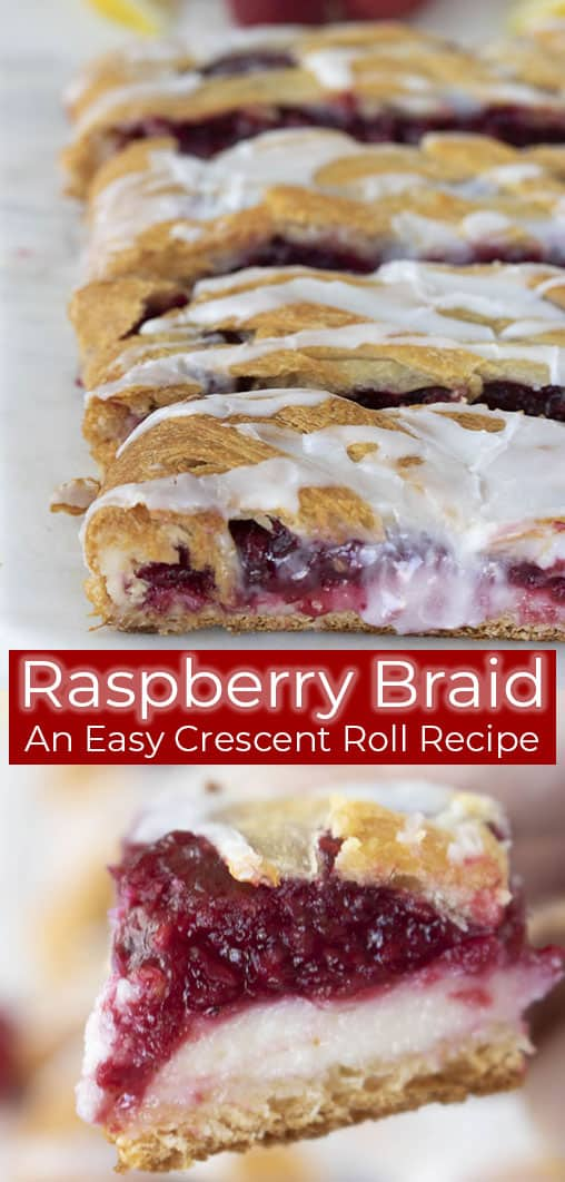 titled image (and shown): Raspberry Braid - an easy crescent roll recipe
