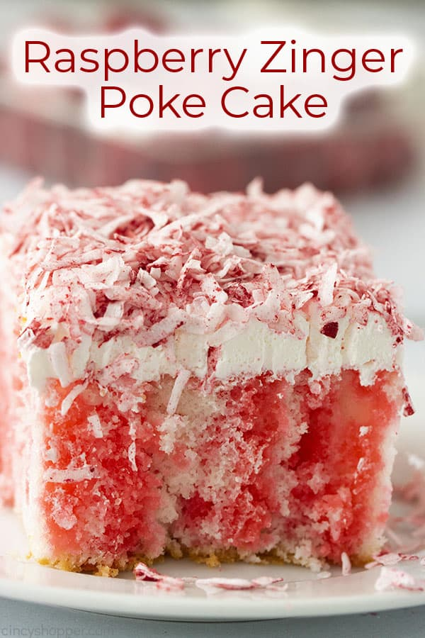 Text image with Raspberry Poke Cake