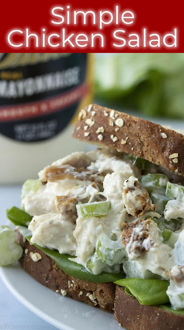 titled image (and shown): simple chicken salad (shown as a sandwich)