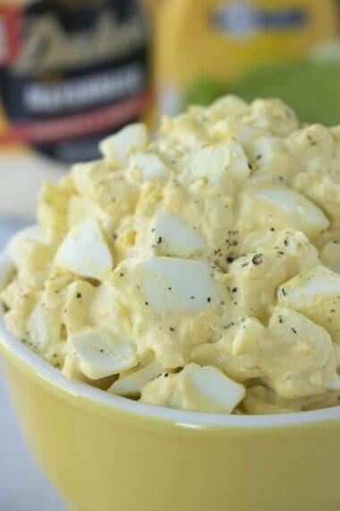 bowl of homemade egg salad