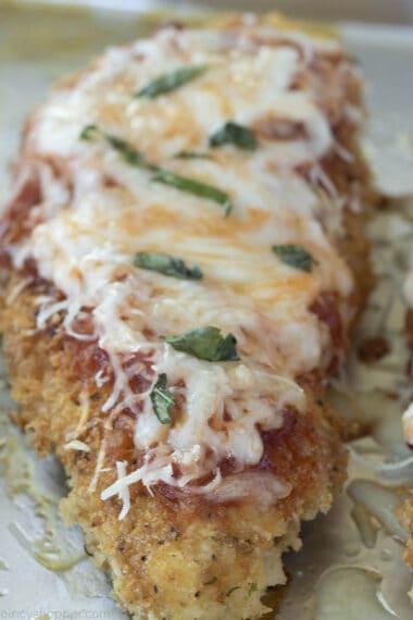 Italian chicken breast - chicken parmesan