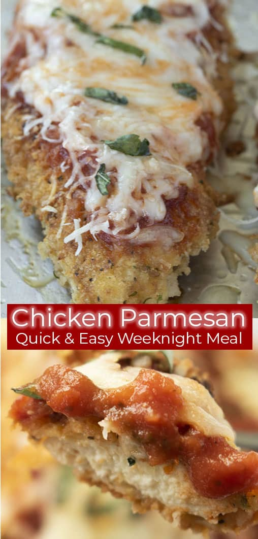 titled image (and shown): Chicken Parmesan - Quick & Easy Weeknight Meal
