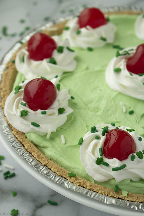 Easy Shamrock Pie with sprinkles