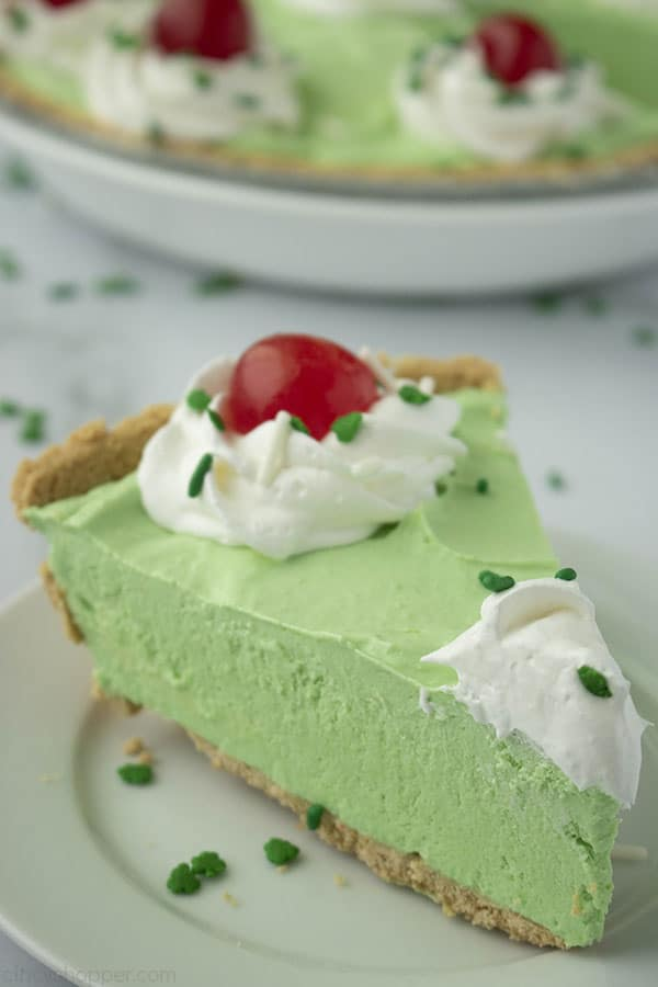 Slice of Shamrock Shake Pie