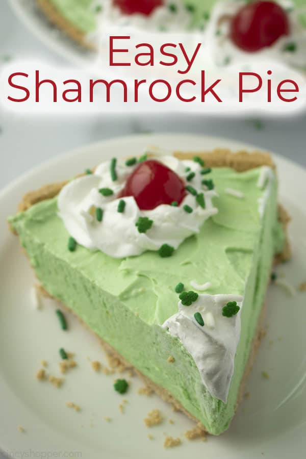 Easy pie with mint flavoring