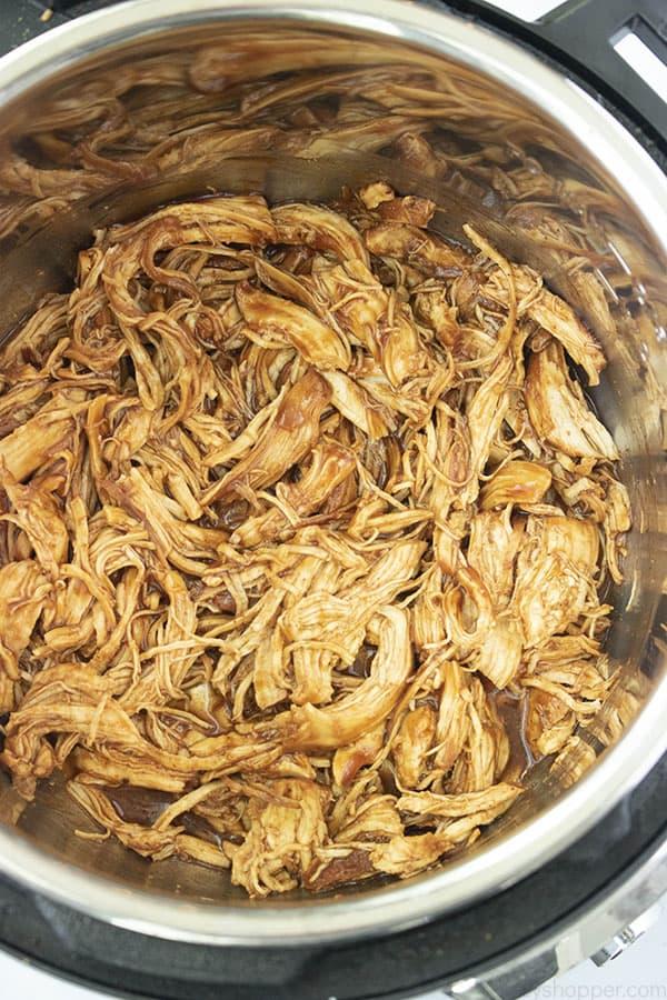 BBQ Shredded Chicken in Instant Pot
