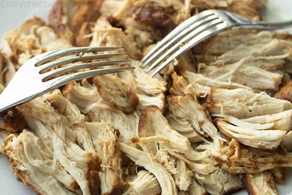 Forks shredding instant pot chicken
