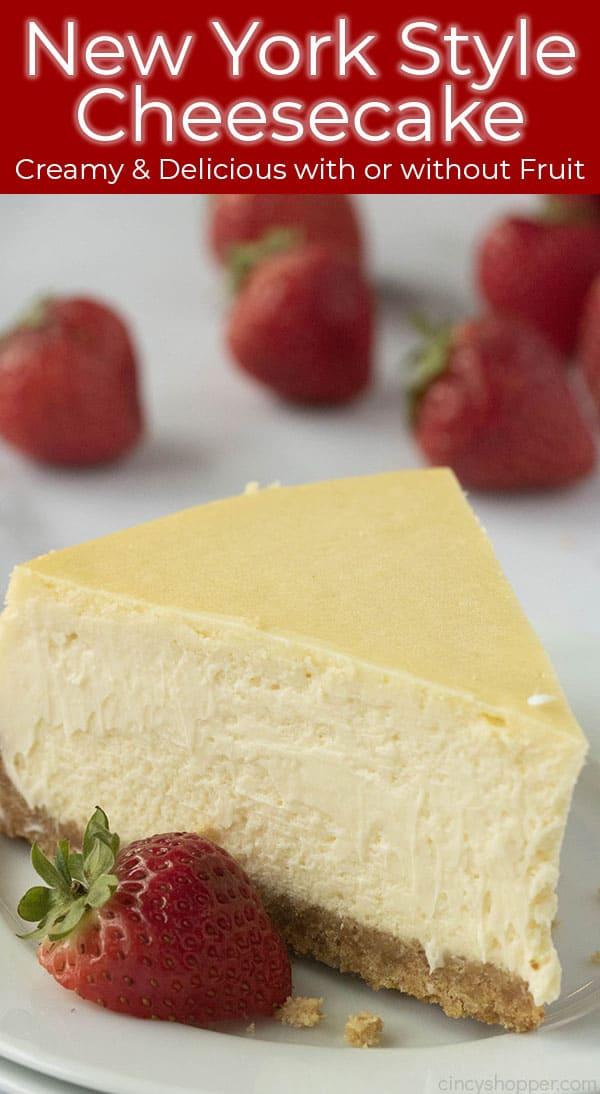 creamy delicious baked cheesecake