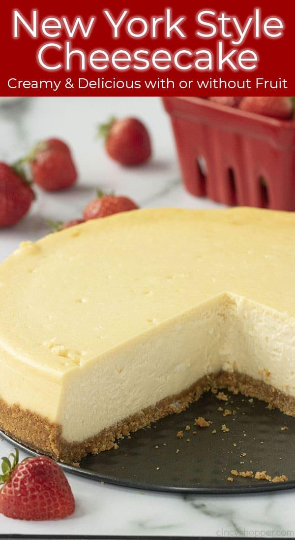 titled photo of plain cheesecake