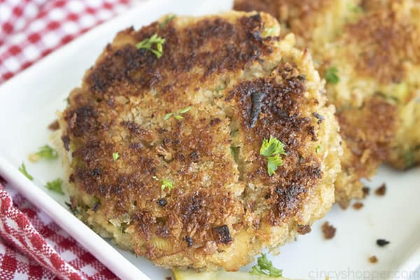 golden brown seafood patty