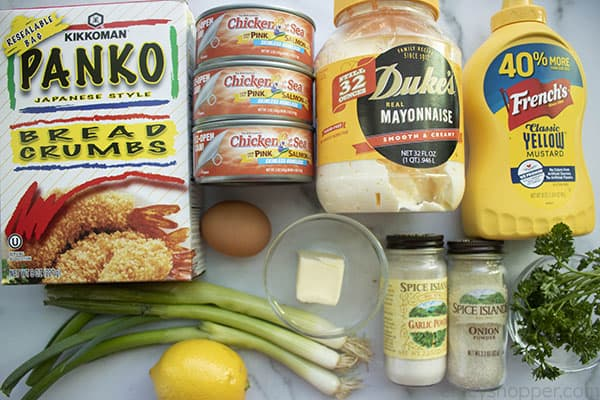 ingredients to make salmon patty recipe
