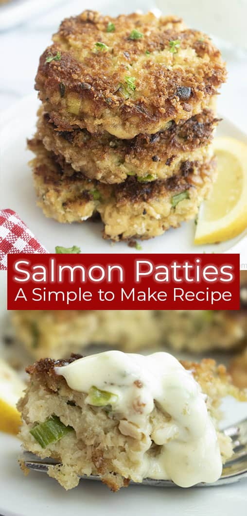 titled photo: salmon patties - a simple to make recipe