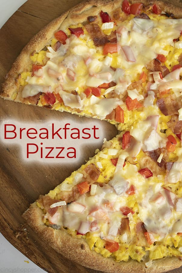 titled photo (and shown): breakfast pizza