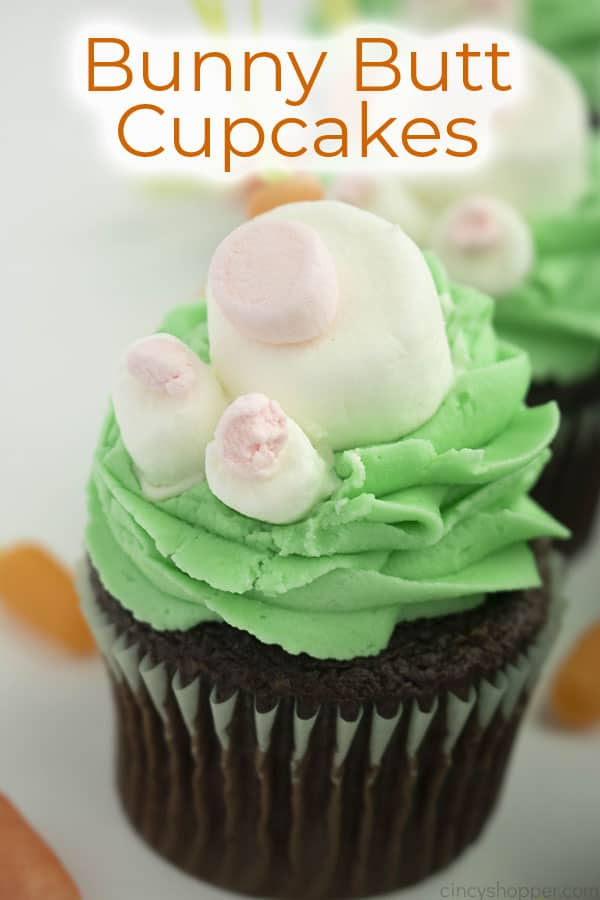 Text on Image Bunny Butt Cupcakes