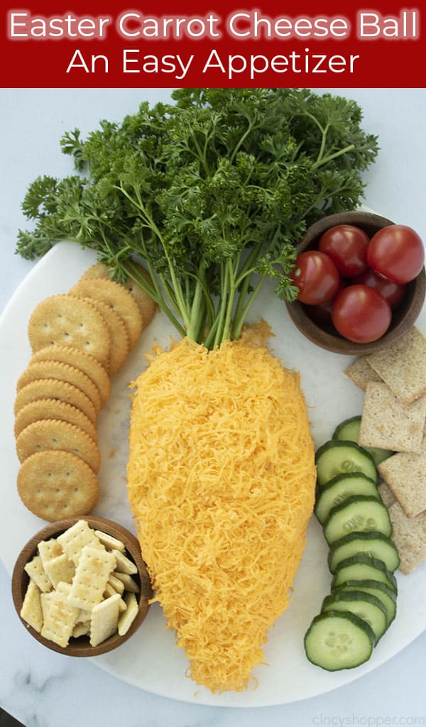 long image of Easter Cheese ball