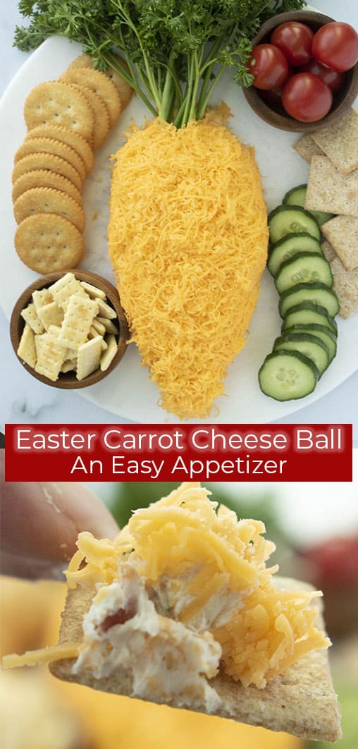 Long Collage with Easter Cheese ball