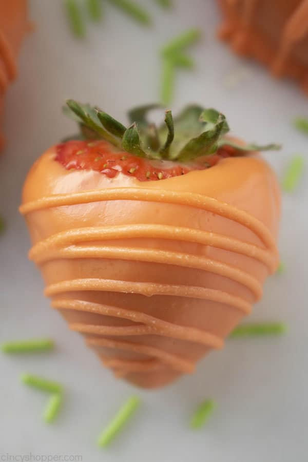 Carrot Dipped Strawberry for Easter