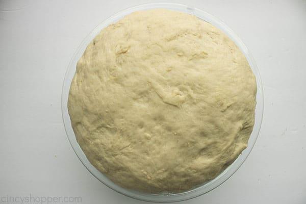 ball of risen dough