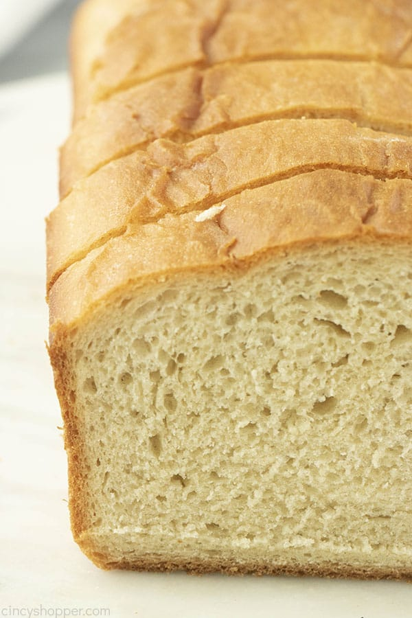 close up showing the texture of home baked bread