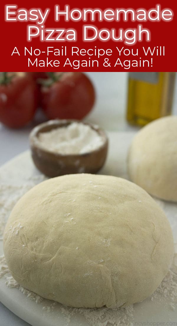 Text on image How to make Homemade Pizza Dough