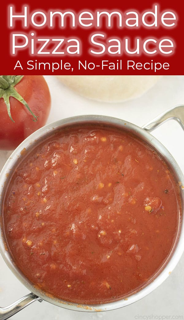 Long pin image with Best Homemade Sauce for pizza