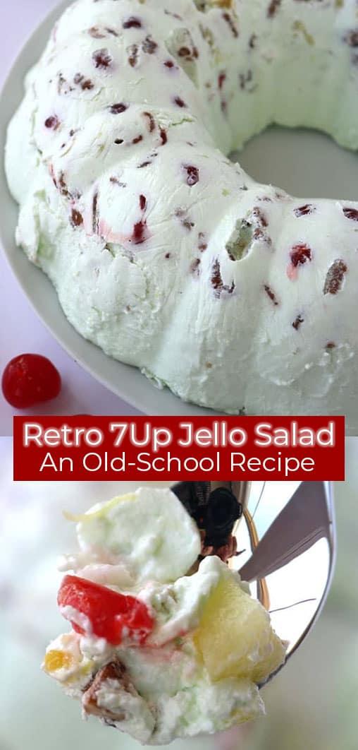 text on image Jello salad
