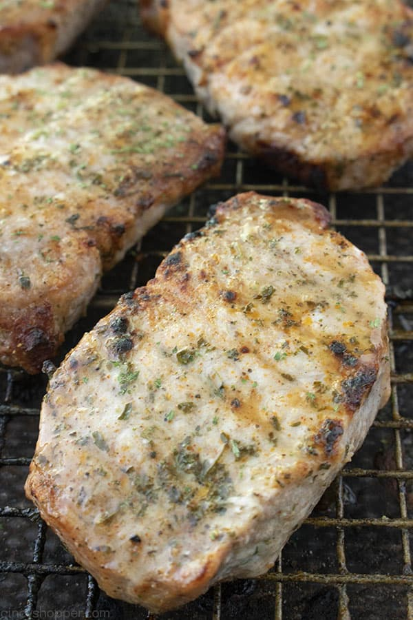 Baked Ranch Pork Chops on a baking pan