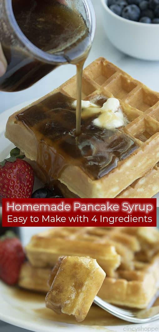 Long pin collage of Homemade Pancake Syrup