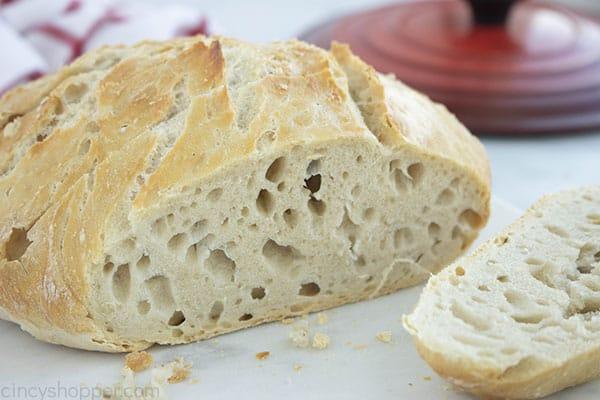 Homemade Bread loaf sliced
