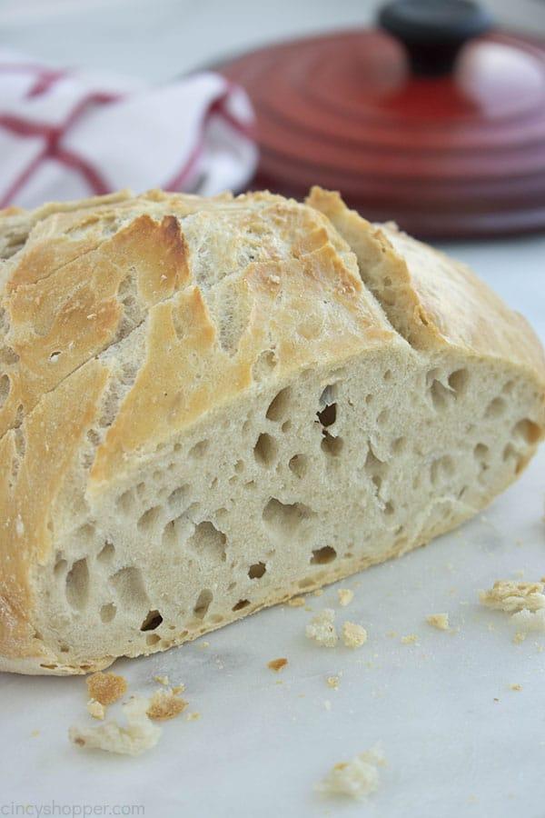 Loaf of Homemade Bread sliced