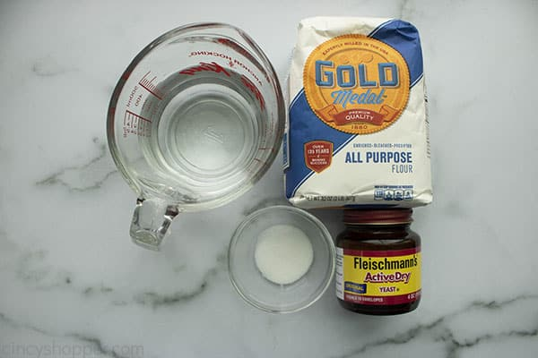 Ingredients to make Dutch Oven Bread