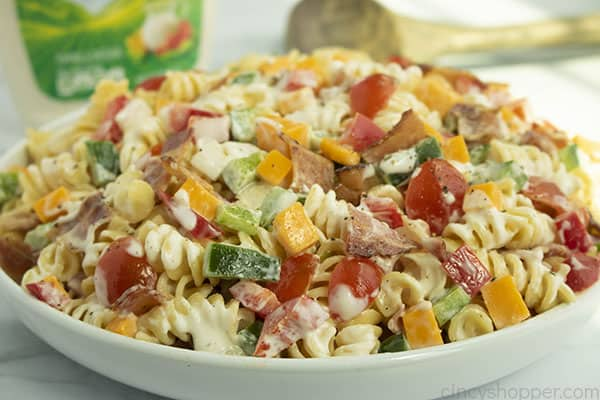 Wide bowl with Bacon Ranch Salad