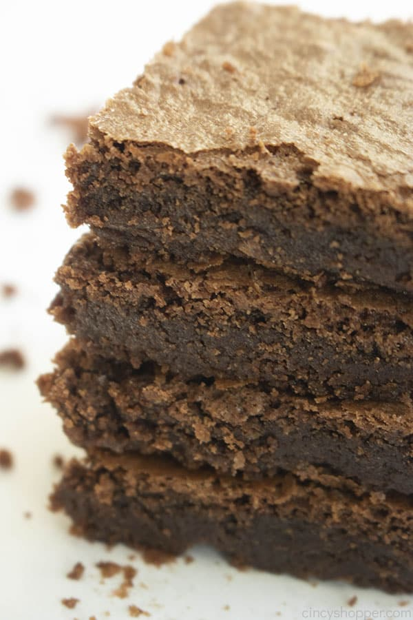 stack of 4 cakey brownies