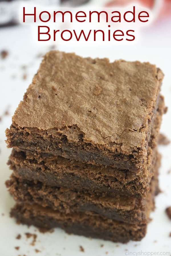 titled photo (and shown) homemade brownies