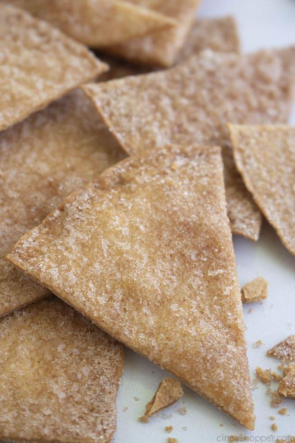 Stack of Cinnamon Tortilla Chips