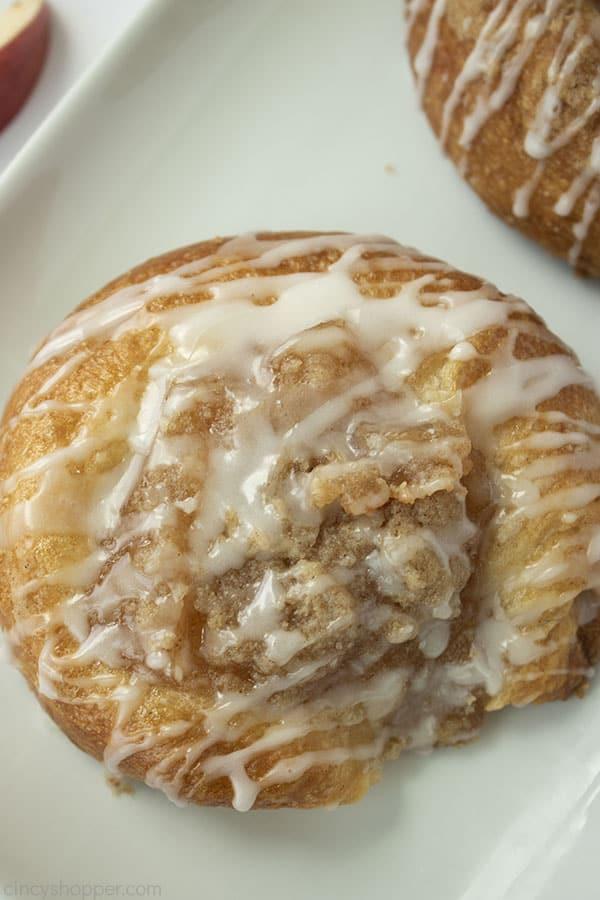 Easy Apple Danish on a white platter.