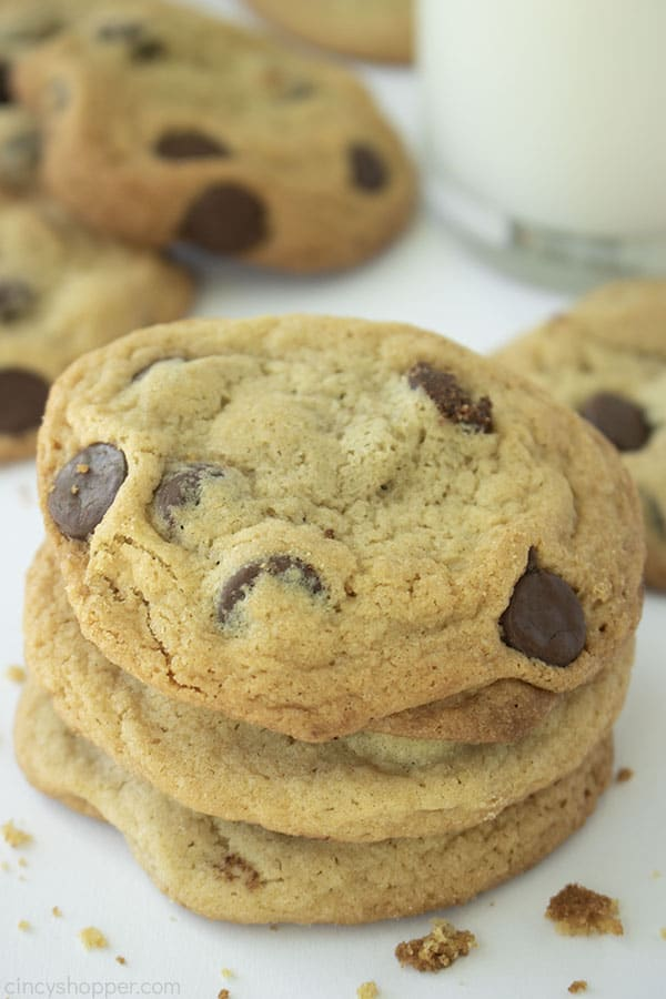 Stack of Toll House Chocolate Chip Cookies